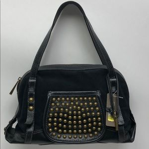 Fossil Fifty four Black Satchel New